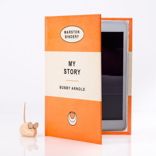iPad or Kindle case that looks like a Penguin book - literary gifts for dad