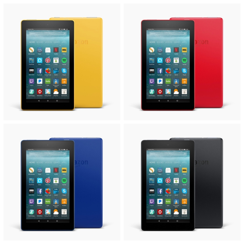 Amazon Fire 7 2017 is available in four body colors
