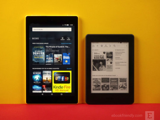 Amazon Fire HD 8 vs Kindle Paperwhite