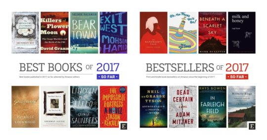 Amazon best books and bestsellers of 2017 so far