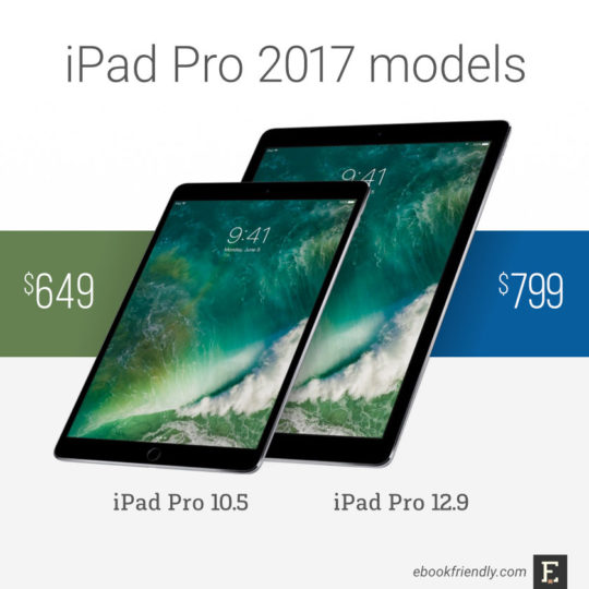 Apple iPad Pro tablets 2017 - 10.5 and 12.9