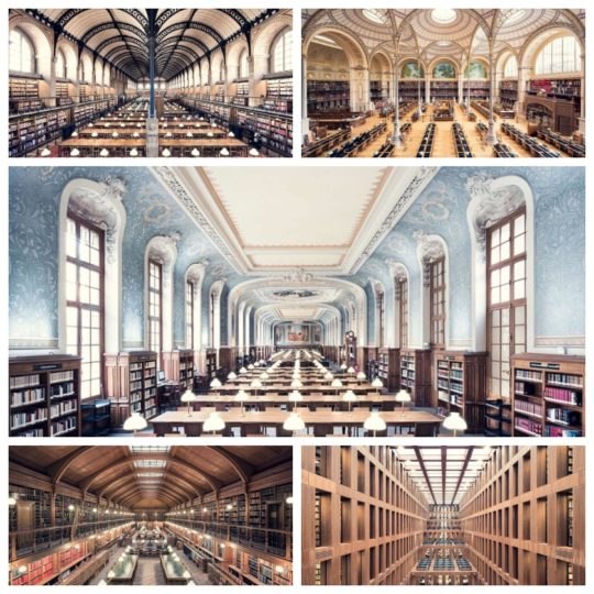 Beautiful libraries in photographs by Thibaud Poirier