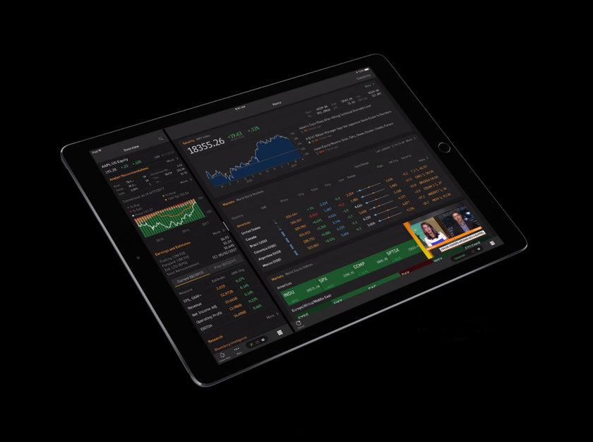 Bloomberg Professional on iPad Pro 10.5 (2017)