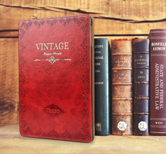 Jgoo Vintage Book Series iPad Pro 10.5 Stand Case