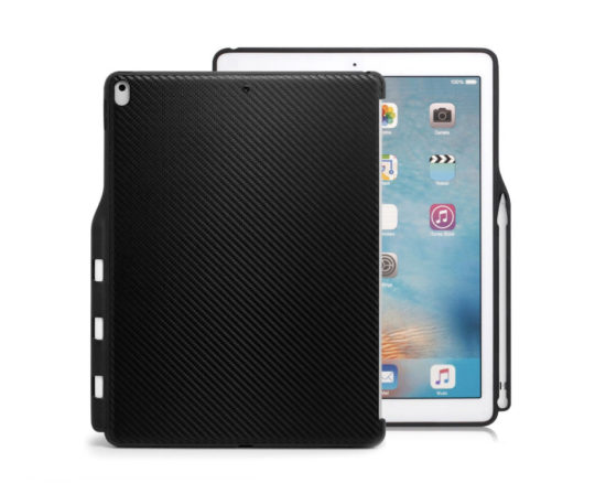 Khomo Apple iPad 12.9 Carbon Fiber Case Cover - 2017 release