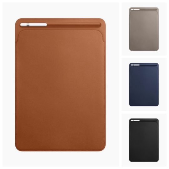 Leather Sleeve for iPad Pro 2017 10.5 and 12.9  tablets is available in four colors