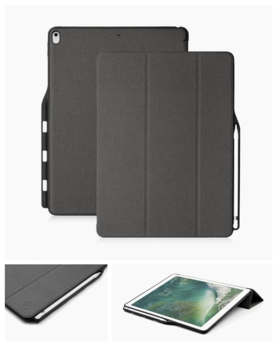 Maxace Rugged Stand Case for Apple iPad Pro 12.9-inch with Apple Pencil Holder