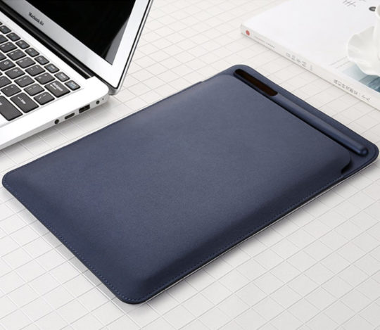 NXLFH iPad Pro 10.5 Faux Leather Sleeve with Apple Pen Holder