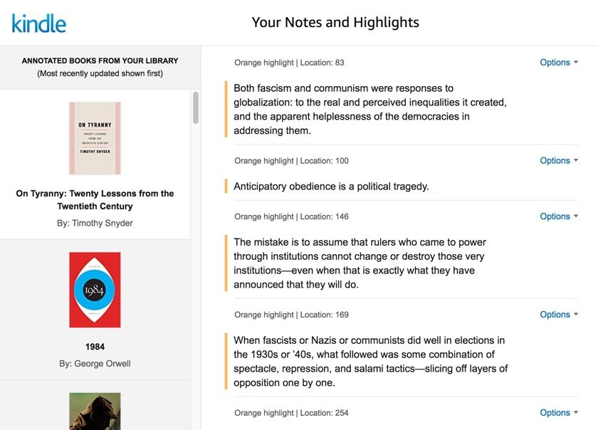 New home for Kindle highlights and notes