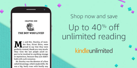 Prime Day 2017 - Kindle Unlimited prepaid plans 40 percent off