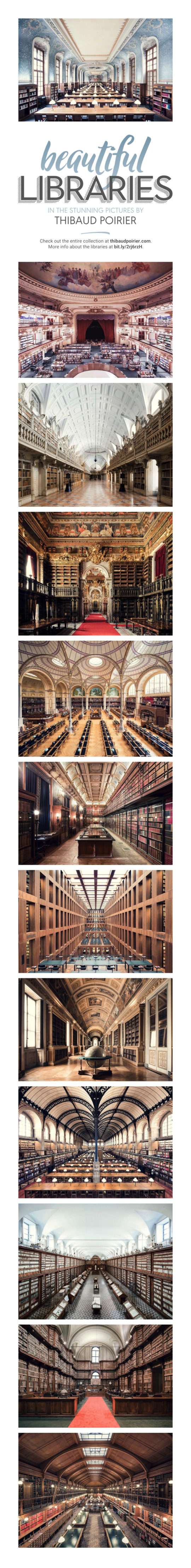 Reading rooms in the stunning photographs by Thibaud Poirier