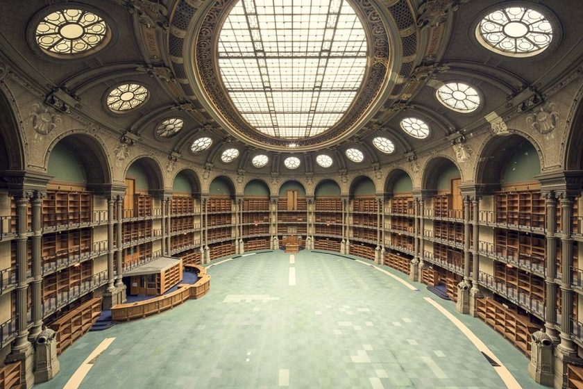 Richeleu Reading Room at the National Library of France