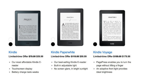Summer 2017 Kindle deals - save $20 on select Kindle e-readers