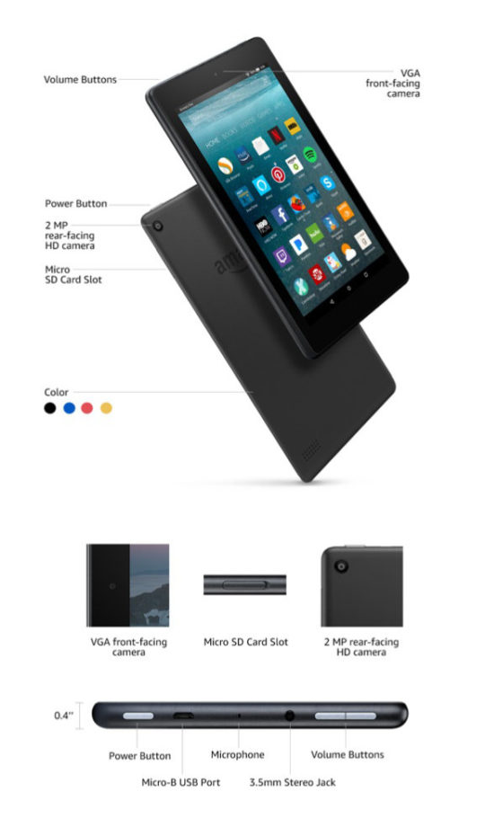 Technical details of the 2017 Amazon Fire 7