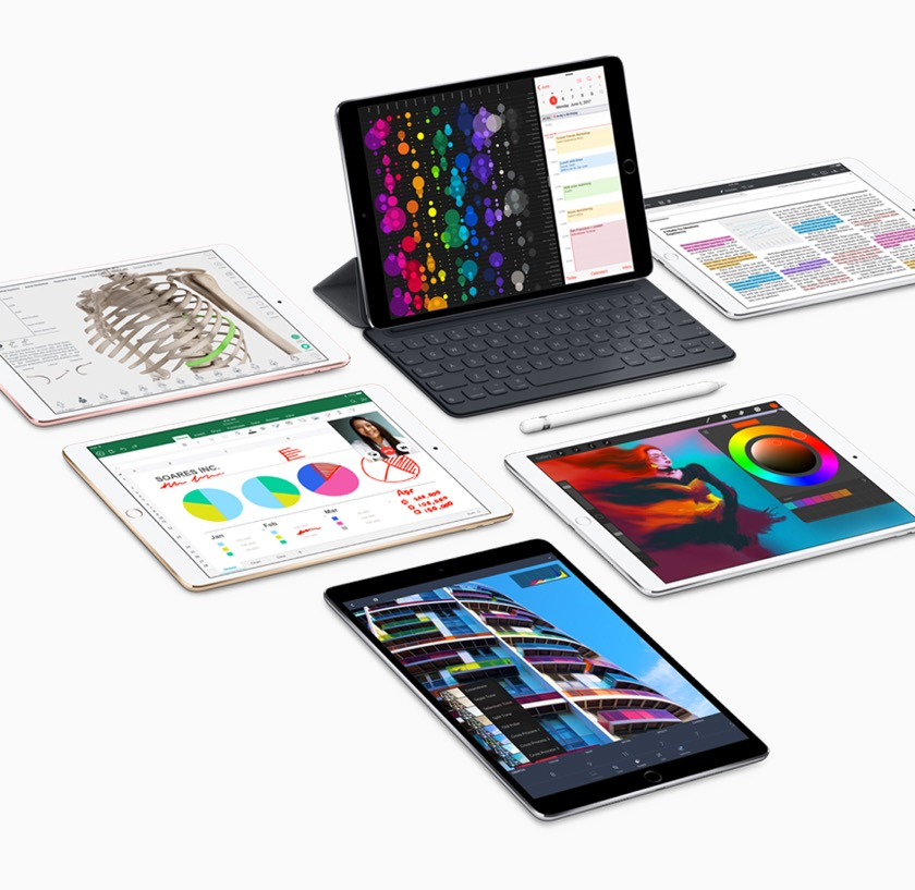 The 2017 iPad Pro 10.5 comes in four colors - accessories can be bought separately
