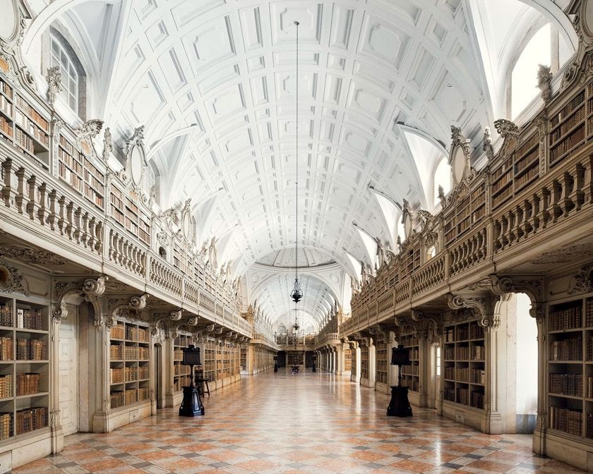 The Library of Palacio Nacional de Mafra