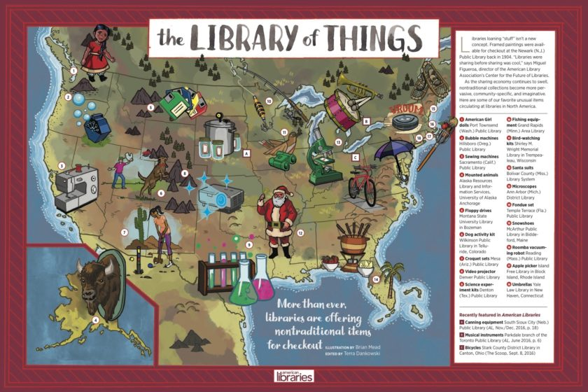 The future of the library is the library of things #infographic