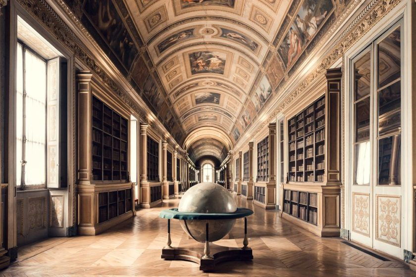 The library at Château Fontainebleau