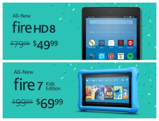 Big sale of Amazon Fire tablets - Prime Day 2017