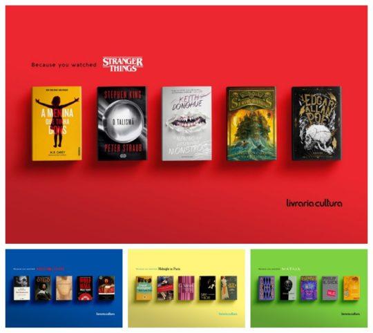 Clever ads for Livraria Cultura bookstores