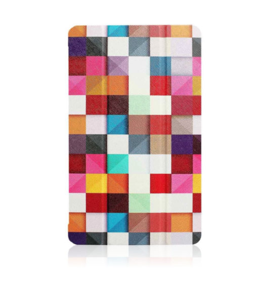 Colorful Slim Tri-fold Cover for the 7th generation Fire 7 tablet