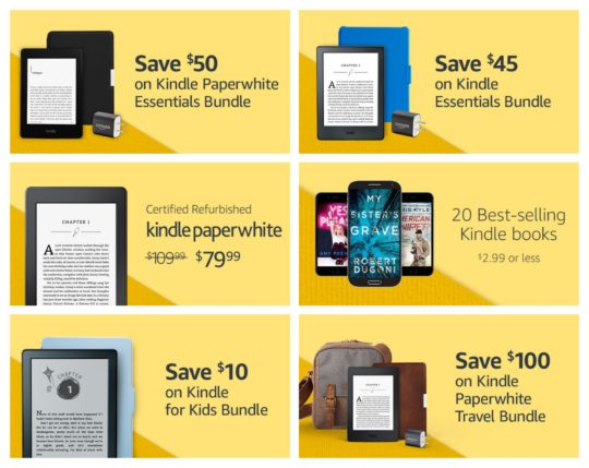 Featured Kindle deals on Prime Day 2017
