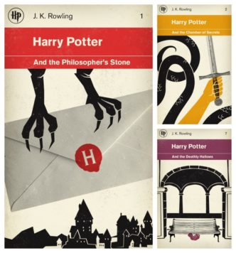 Harry Potter books redesigned to look like vintage books from Penguin Books series