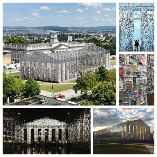 Parthenon of the Banned Books by Marta Minujin in Kassel, Germany - Documenta 14 Exhibition