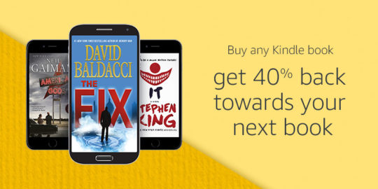 Prime Day 2017 - buy Kindle ebook and get 40% back towards your next book