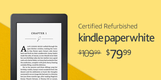 Save on Cerfified Refurbished Kindle Paperwhite - Prime Day 2017