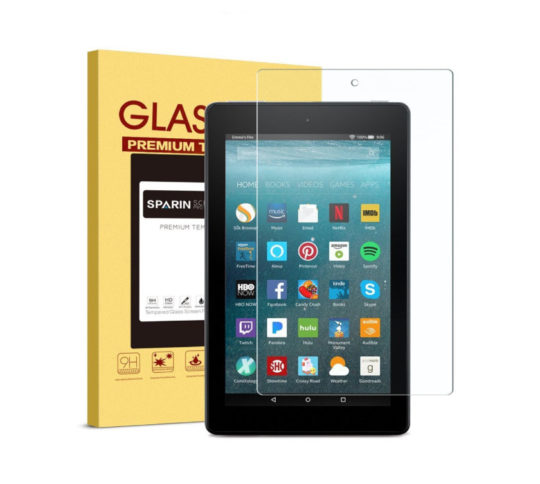 Sparin Tempered Glass Amazon Fire 7 2017 Screen Protector