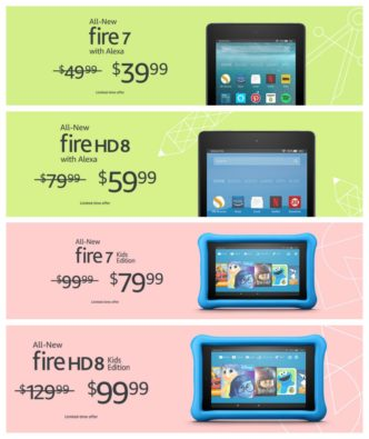All four Amazon Fire tablets released in 2017 have reduced prices in back-to-school deals