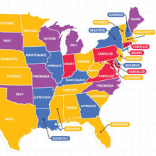 America's top spelling mistakes by state - East