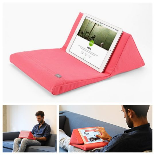 Ipevo PadPillow for iPad can be used to hold a Bluetooth keyboard