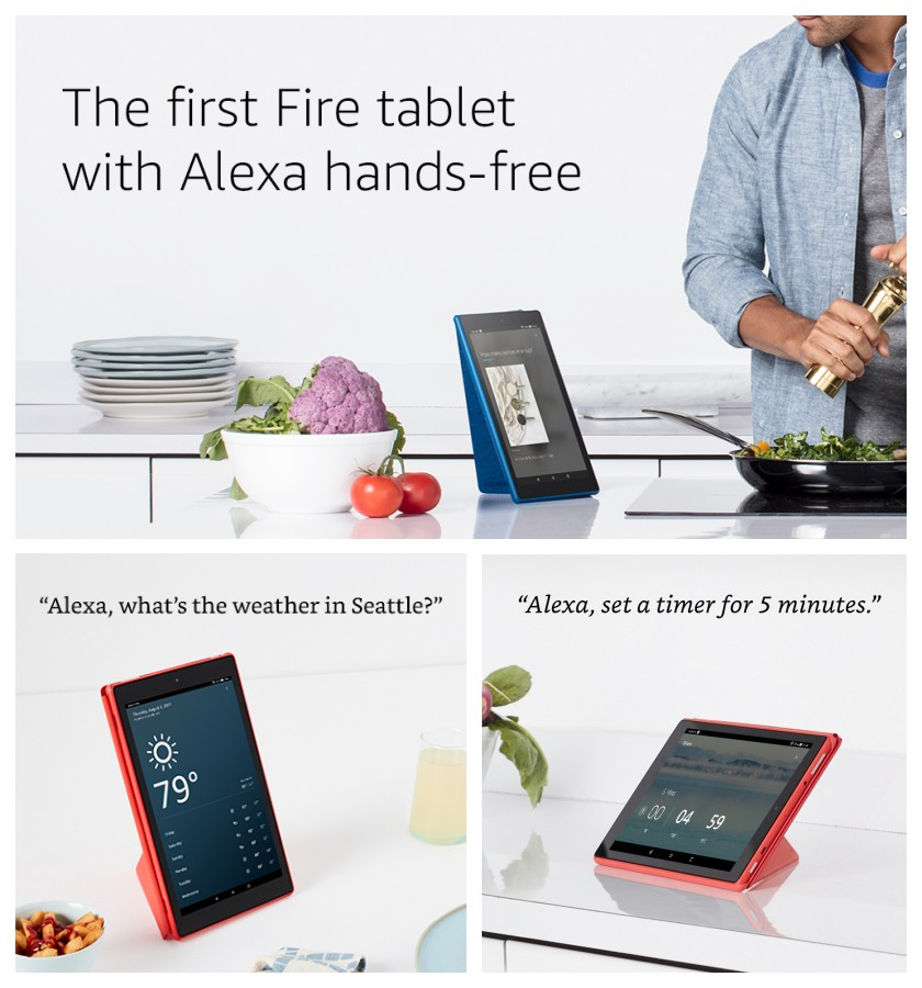10-inch Fire tablet (2017 release) is the first with Alexa operated hands-free