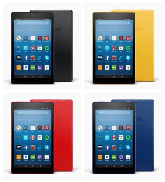 All color versions of the 2017 8-inch Fire HD 8 tablet