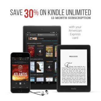 Get 30% off Kindle Unlimited 12-month subscription with AmEx card
