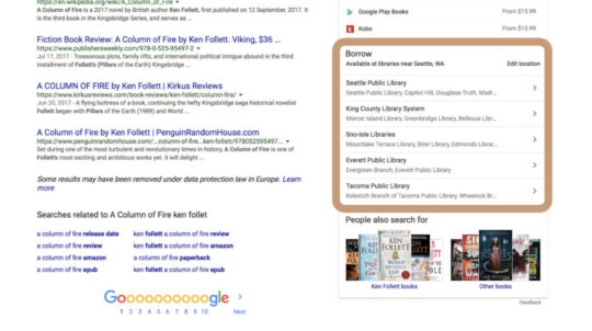 Google web search displays a few public libraries near you that offer the book in an ebook format