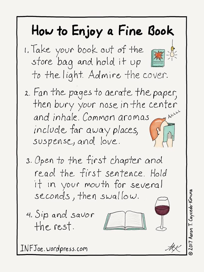 How to enjoy a fine book