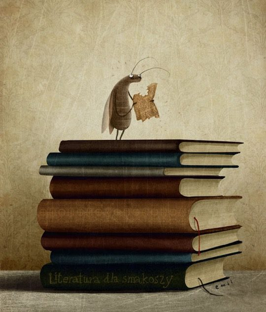 Illustrations about books - Emilia Szewczyk - Literature gourmet