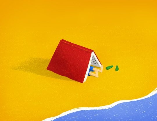Illustrations about book - Jeremie Decalf - Summer reading