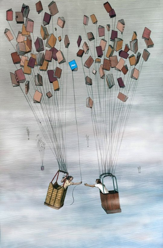 Illustrations about book - Jose Rosero - Books are conversations