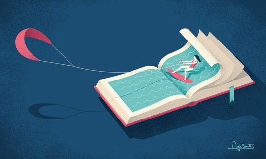 Illustrations about books - Andrea De Santis - Exciting hobby