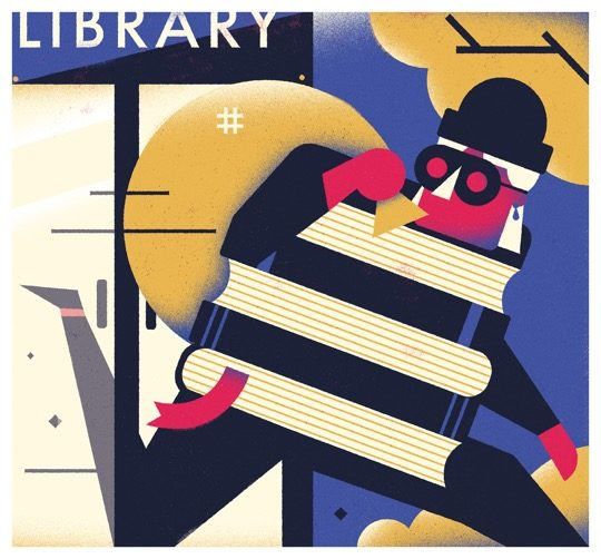 Illustrations about books - Dale Edwin Murray - The book thief
