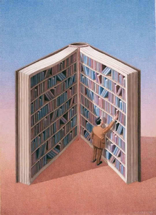 Illustrations about books - Gurbuz Dogan Eksioglu - Personal library