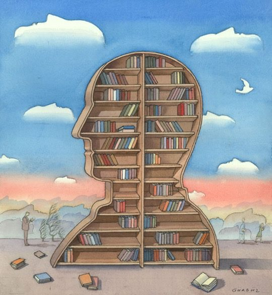 Illustrations about books - Gurbuz Dogan Eksioglu - You are what you read