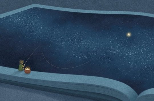 Illustrations about books - Jungho Lee - Fishing the universe