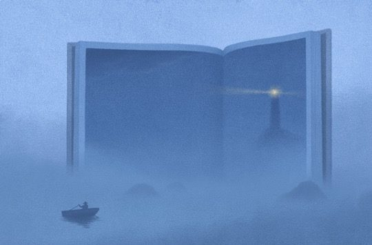 Illustrations about books - Jungho Lee - The lighthouse