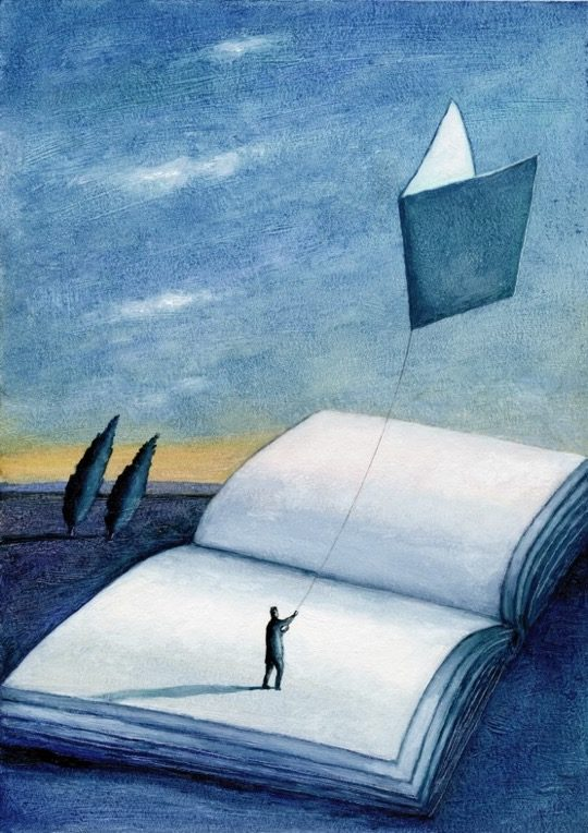 Illustrations about books - Mariusz Stawarski - A quote