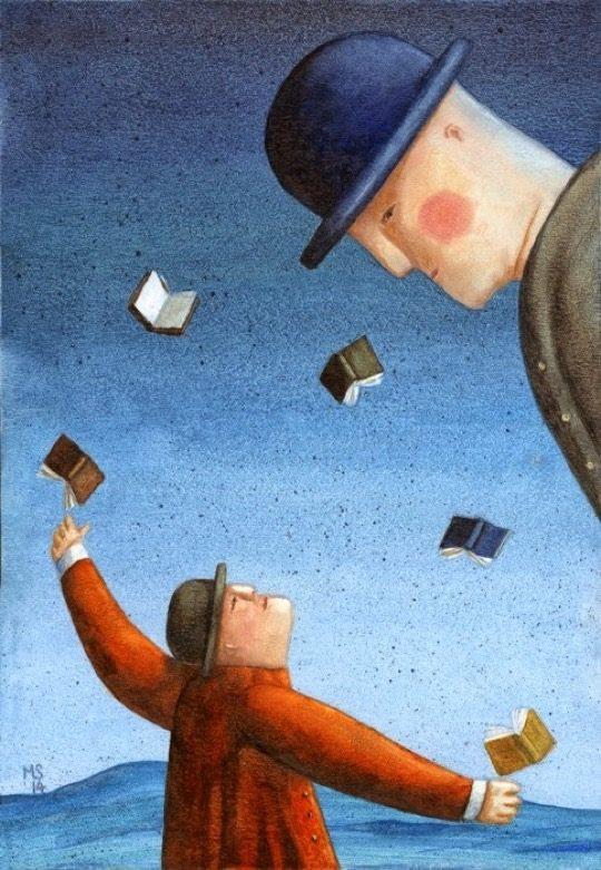 Illustrations about books - Mariusz Stawarski - Ex libris